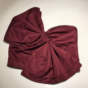 Tops - Maroon bow front tube top
